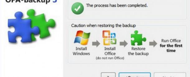 Sauvegarder l'activation de Microsoft Office