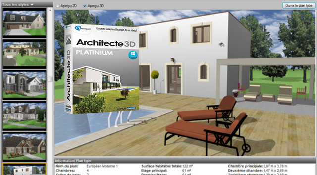 Architecte 3d platinium 2016 v18 trucnet for Architecte 3d v18