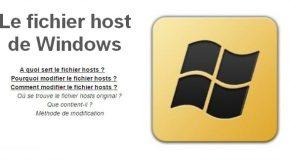 Le fichier host de Windows