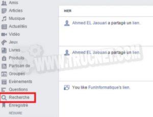 Supprimer votre historique de recherche sur Facebook