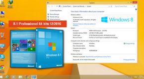 Windows 8.1 Pro x64 VL Update3 12/2016