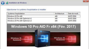 Windows 10 Pro AIO Fr x64 (Fév. 2017)