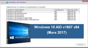 Windows 10 AIO v1607 x64 (Mars 2017)