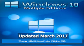 Windows 10 Multi Editions Version 1703 (Mars 2017)