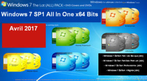 Windows 7 SP1 All In One x64 Bits Avril 2017
