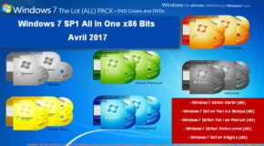 Windows 7 SP1 All In One x32 Bits Avril 2017