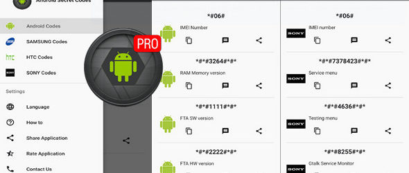 Android Secret Codes Pro v3.2.4