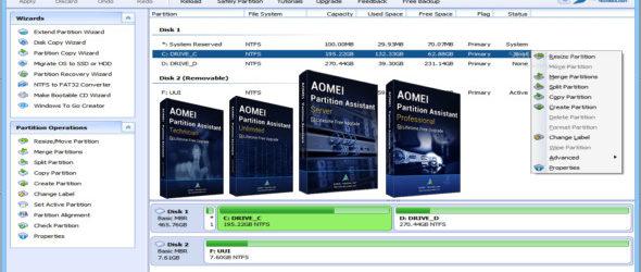 AOMEI Partition Assistant 8.0