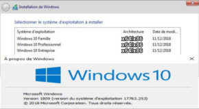 Windows 10 V1809 RS5 3in1 Janvier 2019