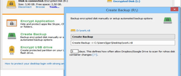 Rohos Disk Encryption 2.5